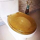 WC-Deckel Kunstharzscharnier Aus Edelstahl/Einfach Zu Installieren/Farbgestaltung/Toiletten-Toilette,Gold-Bottomfixed
