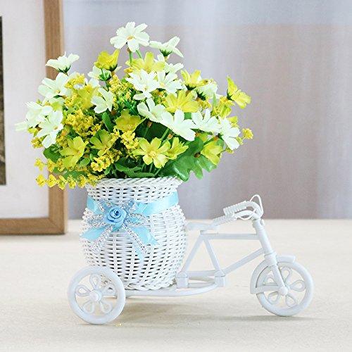 Weiße Terrasse Tisch (Zhihuoyou Simulation Blumen Set Seidenblumen Kunststoff Gefälschte Blumen Heimtextilien Kleine Dekoration Wohnzimmer Tisch Innendekoration Topfpflanzen Grüne Und Weiße Blume Auto Set)