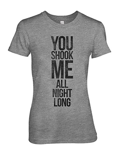 You Shook Me All Night Long Cool Song Lyrics Damen T-Shirt Grau