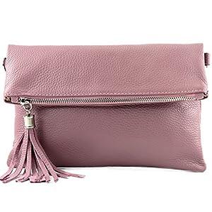 modamoda de – ital bolso de embrague/hombro de cuero pequeña T167