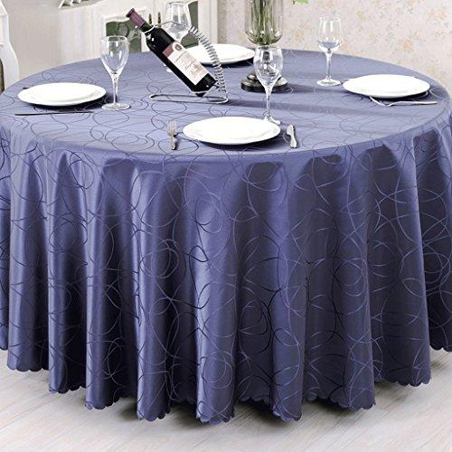 ZXUE Runder Tischdecke Tischdecke Tuch Konferenztisch Tischdecke Tee Tischdecke Tischdecke Tuch Runde (Farbe : Blau, größe : 260cm(102inch))