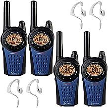 12 Km Cobra MT975 Walkie Talkie 2 Tomas PMR Radio Quad Paquete + 4 x Comtech CM-15PT Auriculares