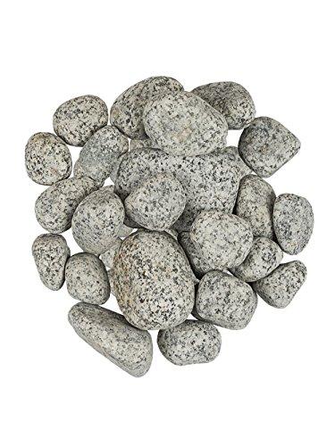Pflanzwerk® Pflanzkübel Dekosteine Zierkies Granit NATURSTEINE Weiss 5KG *Frostbeständig* *UV-Schutz* *Qualitätsware*