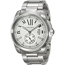 Cartier W7100015 - Reloj de pulsera hombre, acero inoxidable, color plateado