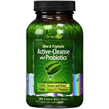 Irwin Naturals - Aloe Vera y Triphala activo limpiar y probióticos - 60 cápsulas