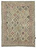 Nain Trading Kelim Afghan Heritage 202x152 Orientteppich Teppich Beige/Dunkelbraun Handgewebt Afghanistan
