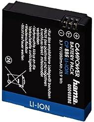 Hama Li-Ion-Akku für GoPro HD Hero, Baugleich mit GoPro HD HERO , CP 886, Silber
