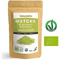 Matcha Tee Pulver Bio [ Cooking-Qualität ] 100 GR | Original Green Tea aus Japan | Japanischer Matcha Ideal zum Smoothies – Shakes - Latte | Tee hergestellt in Japan Uji, Kyoto | NATURALEBIO®