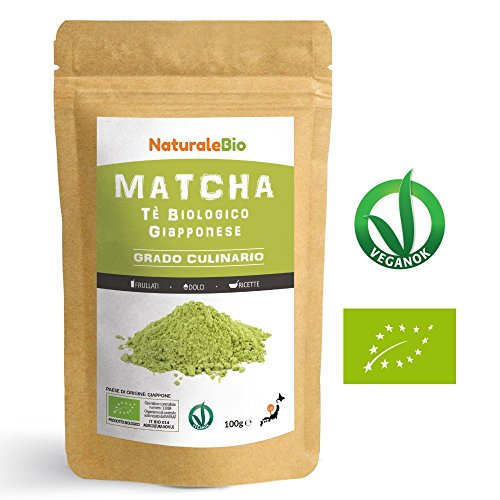 Instant-pulver-drink-mix (Matcha Tee Pulver Bio [ Cooking-Qualität ] 100 GR | Original Green Tea aus Japan | Japanischer Matcha Ideal zum Smoothies - Shakes - Latte | Tee hergestellt in Japan Uji, Kyoto | NATURALEBIO®)
