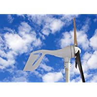 ECO-WORTHY 12V/24V 400W 400 Watt White 3 Blade Wind Turbine kit residential with Hybird Charge Controller, Agriculture & Marine. DIY Installation Providing Off-grid Green Energy Power. 23