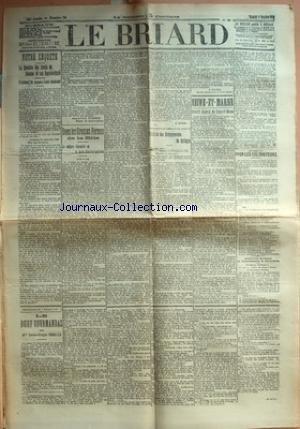 BRIARD (LE) [No 76] du 01/10/1910 - NOTRE ENQUETE - LA QUESTION DES DROITS DE DOUANE ET NOS REPRESENTANTS - L'OPINION DE JACQUES-LOUIS DUMESNIL PAR JACQUES-LOUIS DUMESNIL - DANS LES GROSSES FERMES DE LA BRIE - LA CULTURE INTENSIVE ET LA MAIN D'OEUVRE AGRICOLE PAR H. HITIER - SYNDICAT DES ENTREPRENEURS DE BATTAGES PAR E. ROCROY - SEINE-ET-MARNE - CONSEIL GENERAL DE SEINE-ET-MARNE - POUR LES CULTIVATEURS - ASSOCIATION MUTUELLE DES GARDES-CHAMPETRES DE SEINE-ET-MARNE - LE BOEUF GOURMANDAS