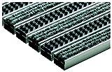 ACO Vario Schuhabstreifer-Matte 60x40 cm Fußmatte aus hellgrauen Rips-Streifen und Cassettenbürsten für außen
