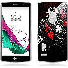 Funda LG G4 Beat - Fubaoda - Alta Calidad Serie de la pintura, [póker] Gel de Silicona TPU, Fina, Flexible, Resistente a los arañazos en su parte trasera, Amortigua los golpes, funda protectora anti-golpes para LG G4 Beat / G4s (H735)