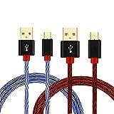 Lot de 2 Câbles Micro-USB de Recharge Rapide pour Android Shuliancâble - 1 m, 2 m,...