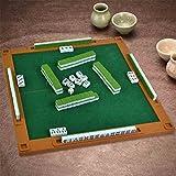 LI JING SHOP - Grün Home Hand reiben Mahjong, Kunststoff Portable Tourismus Reise Zug Ausgehen Mini Kleine Mahjong, Größe: 2.0 * 1.4 * 1.1CM ( größe : 2.0*1.4*1.1CM )