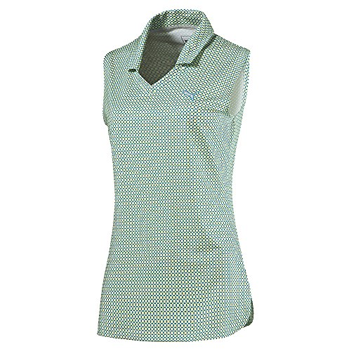 Puma Pinwheel Ärmelloses Golf Polo 2016Damen Sharp Grün XS -