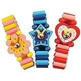 Bigjigs Toys Schicke Armbanduhren aus Holz (Pack von 3)
