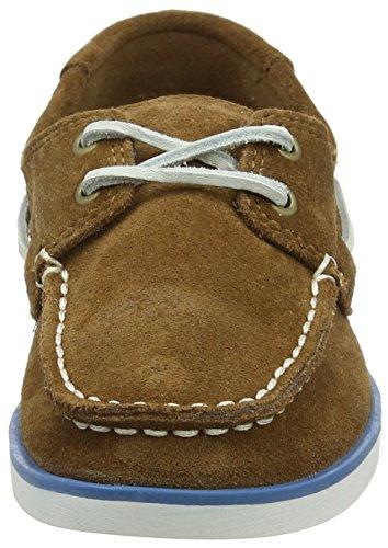 Timberland Seabury Classic 2eye Boatrubber Hammer Ii, Chaussures Bateau Mixte Enfant Marron (Rubber Hammer Ii)