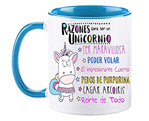 FUNNY CUP Taza Unicornio Color.