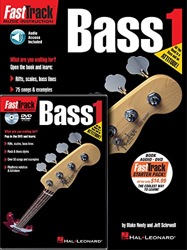 Fast Track: Bass Guitar Method Starter Pack: Lehrmaterial, CD, DVD (Video) für Bass-Gitarre (Fast Track (Hal Leonard)) - Pack Guitar Bass