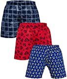 Global Rang Men's Cotton Boxer Pack of 3 (Blue, Medium)