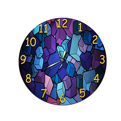 Mily MILYDreidimensionale Uhr Wandaufkleber Zifferblatt Wohnzimmer Digitale Wanduhr Acryl Stumm