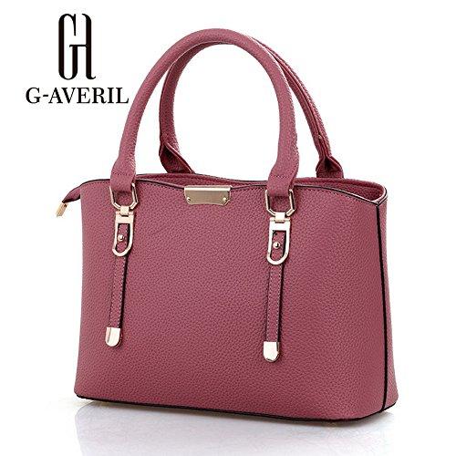 (G-AVERIL) Borse a Spalla e tracolla eleganza elegante Moda Donna rosa