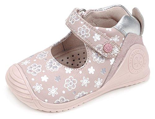Biomecanics Biogateo, Marche bébé fille Pink (Rosa Y Estampado Flores)