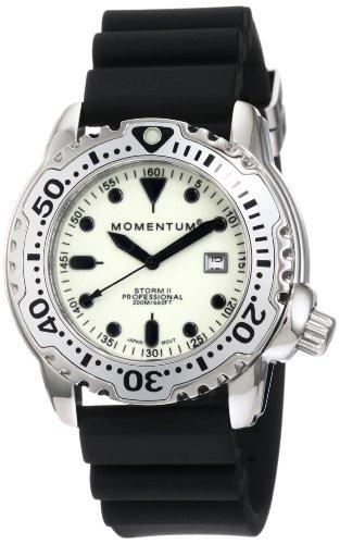 Momentum - 1M-DV82W1B - Montre Homme - Quartz Analogique - Bracelet Caoutchouc Noir