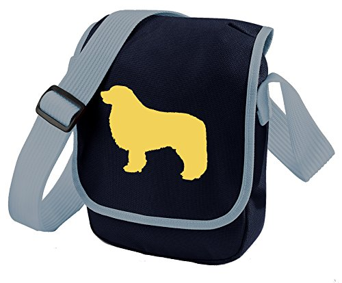 Bag Pixie - Borsa a tracolla unisex adulti Fawn Dog Blue Bag