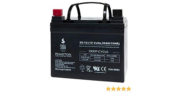 Akku Batterie 12V 35Ah AGM GEL Aufsitzmäher Rasentraktor AGM Power 30Ah FullPO