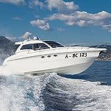 malango® Bootsaufkleber Bootskennzeichen 2 Stück Bootskennung Bootsnummer Aufkleber Zeichen Kennung Nummer ca. 10 cm Höhe weiß