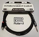Roland 21063009910ft/3M Interconnect câble TRS 1/4(mâle) vers Dual RCA