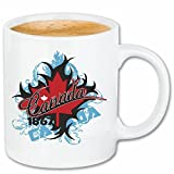 """Kaffeetasse """"KANADA KANADISCHE FLAGGE CANADA NEW YORK CITY AMERIKA CALIFORNIA USA ROUTE 66 BIKERSHIRT NY MOTORCYCLE NYC LIBERTY VEREINIGTE STAATEN BRONX"""