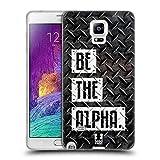 Head Case Designs Be The Alpha Fitness Typographie Soft Gel Hülle für Samsung Galaxy Note 4