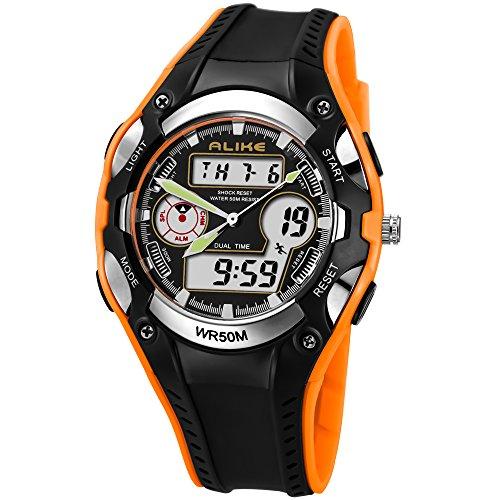 Qingmei Relojes para niños Relojes de pulsera para niñas Pantalla analógica y...