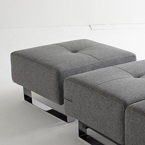 Innovation Hocker mit Chrombeinen Supremax/Cassius Deluxe Excess Lounger Textil grau