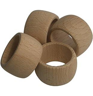 6 anelli tovaglioli con anatra TOVAGLIOLI supporto in legno scolpito a mano-mandarinente