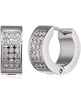 Tommy Hilfiger jewelry Damen-Ohrstecker Edelstahl Swarovski-Kristall weiß 2700572