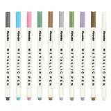 Kesoto Rotuladores Metalizados Para Tarjetas de Regalo Hacer álbumes de fotos DIY Bolígrafos Acentuados con 10 Colores