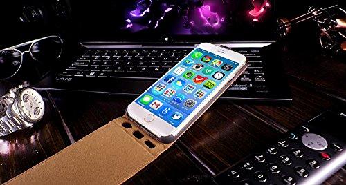 Original Akira Hand Made Echt Leder Apple iPhone 6 Plus / 6S Plus 5.5 Flip Cover Handgemacht Case Schutzhülle Etui Flip Wallet Pen [DEUTSCHER FACHHANDEL] Special Edition Dunkel Braun Flip Braun Limited Edition