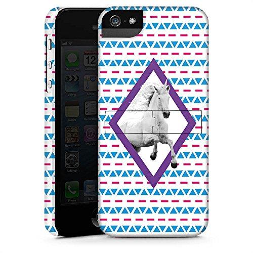Apple iPhone X Silikon Hülle Case Schutzhülle Unicorn Einhorn Hipster Muster Premium Case StandUp