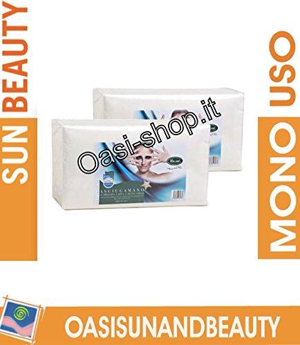 Asciugamano monouso qualità 5 stelle Ro.ial carta a secco liscio PN 40x70 100 pz