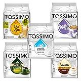 Tassimo Family Set: Jacobs Krönung, Milka Kakao, Cappuccino, Milchkomposition, Chai Latte, Kaffee, Kaffeekapsel, 5 Sorten