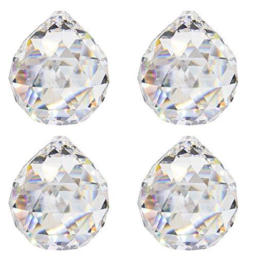 Bolas de cristal (Diámetro 20Mm 4unidades de 30% hochbleikristall