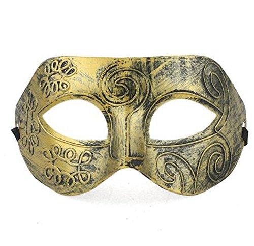 Soccik Karneval Maske Maenner Erwachsene Kostuem Maskerade Masken Masquerade Griechische Gesichtsmaske Fuer Abendkleid Maskenball Partei Karneval Maske Golden (Männliche Maskenball Kostüme)