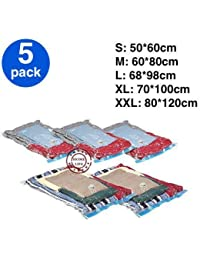 Akruti XXL : ! 5 Pc/lot, Vacuum Bag, Storage Bag, Space Saving Bag For Clothing And Bedding