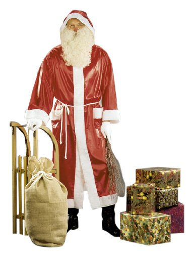 Niko-Mantel - Disfraz de Papá Noel para hombre, talla única (K132-001)