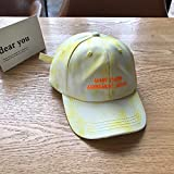 mlpnko Hut weibliche Kappe Wilde Sonnencreme Graffiti Sonnenschirm Baseball Cap gelb einstellbar