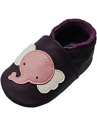 afcf47baedaa7 Yalion Chaussures Cuir Souple Bébé Et Bambin - Chaussons Premiers Pas -  Garçons Et Filles -